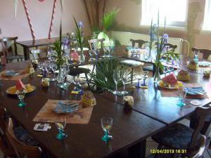 Autokemp - ubytovna SK Mšeno - rodinná oslava v salonku