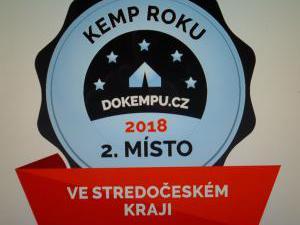Autokemp - ubytovna SK Mšeno - kemp roku 2018  druhé místo středočeský kraj