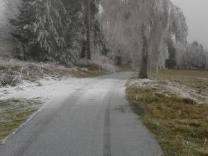 Apartmán Dvorečná - zimní cesta