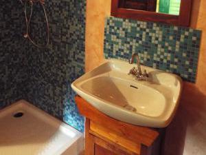 Smolův mlýn - Smolův mlýn - nádherná koupelna s modrou mozaikou