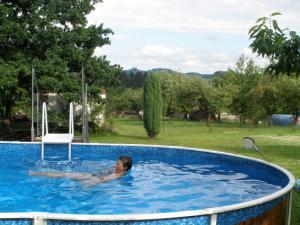 Chalupa pod Melechovem - Bazén v zahradě