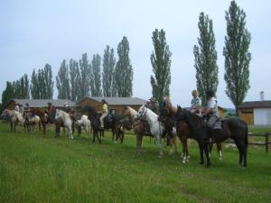 Pension Vital   Vital-Park Drahotín - řada jezdců z Bavorska při návštěvě Vital-Parku