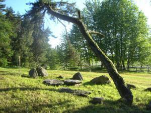 Pension Vital   Vital-Park Drahotín - kamenný stůl