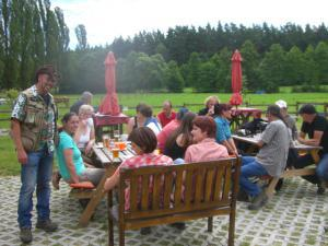 Pension Vital   Vital-Park Drahotín - záběr z terasy