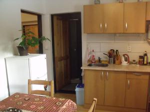 Konírna - rodinný dům - Pohled z kuchyně , vlevo dveře do pokoje, naproti do soc.zařízení