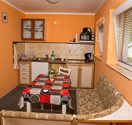 Apartmán 4 lůžka - kuchyňka