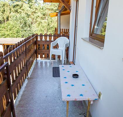 Apartmán 4 lůžka - venkovní posezení