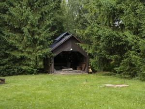 Chalupa Na Paloučku - Chalupa Na Paloučku ubytování v Orlickém Záhoří - pergola s topeništěm