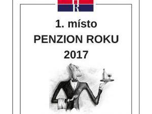Penzion U Zámku Mělník **** - Ocenění Asociace hotelů a restaurací Penzion roku 2017