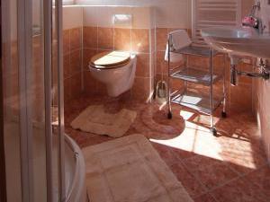 Penzion a chatky U Přehrady - koupelny v pokojích