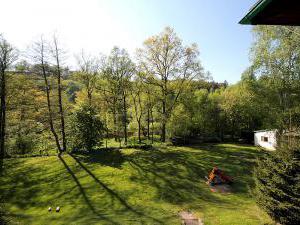 Penzion Sázavka - pohled do zahrady