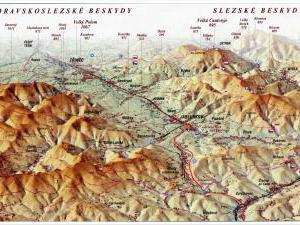 Chata Nýdek - Mapa Moravskoslezské Beskydy