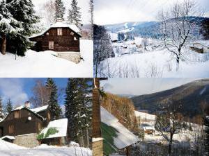 Horská chata Kouty - Horská chata Kouty zimní koláž