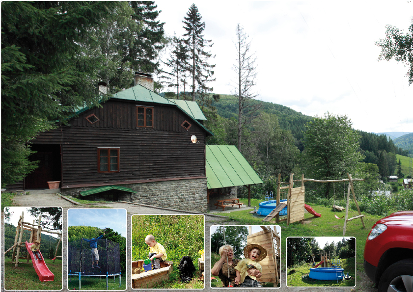 Horská chata Kouty - letní s atrakcemi