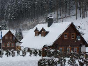 Roubenky Zlaté Hory - Horní Údolí - Roubenky v zimě