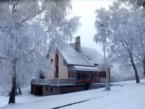 Chata Meduňka - Chata v zimě