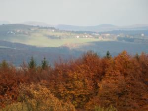 Chata Meduňka - Podzimní pohled směrem na Žítkovou
