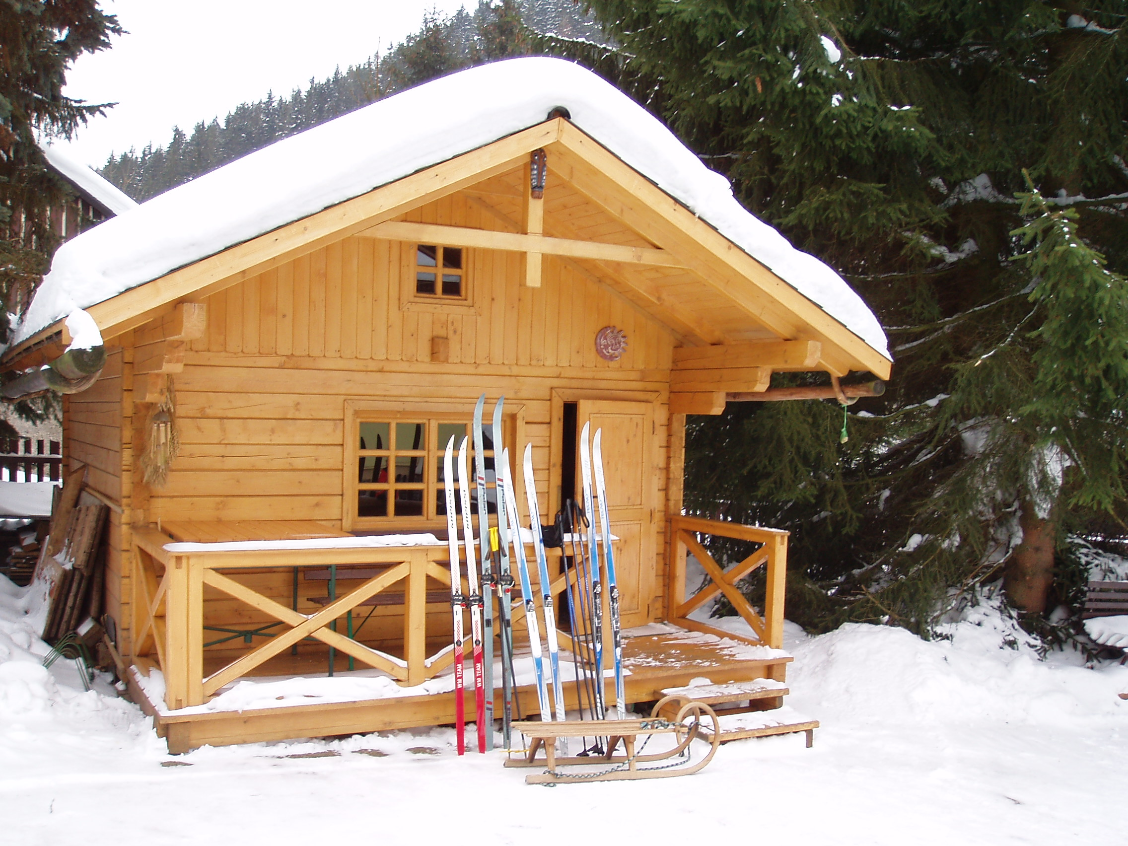 Prostor pro uložení lyží - kol