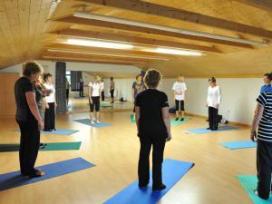 Areál Skiland Ostružná - cvičení v tělocvičně