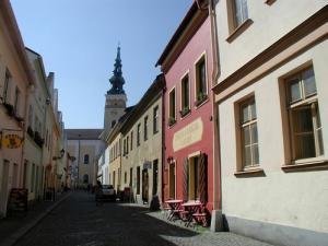 Penzion a Kavárna U Holubů Nový Jičín - Kostelní ulice a penzion U Holubů