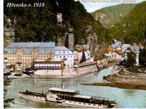 UBYTOVÁNÍ U KŘIVÁKŮ HŘENSKO - HŘENSKO 1918 v Českosaském Švýcarsku