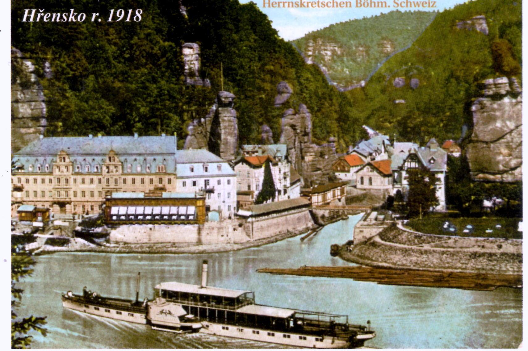 HŘENSKO 1918 v Českosaském Švýcarsku