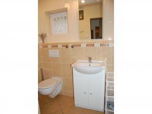 Chalupa Rajnochovice - Koupelna se sprchovým koutem a WC.