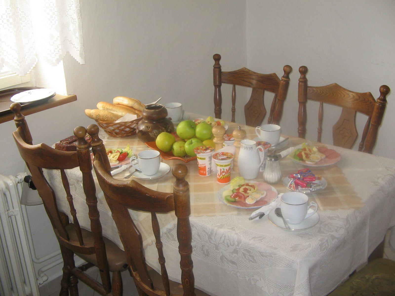 Kuchyně - snídaně