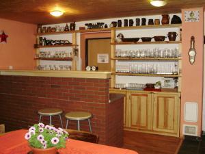 Dům s apartmány U Kožešníků - Společenská místnost s barem