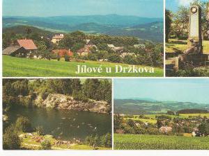 Roubenka Jílové v podkrkonoší - pohlednice Jílové u Držkova, zatopený lom je asi 3