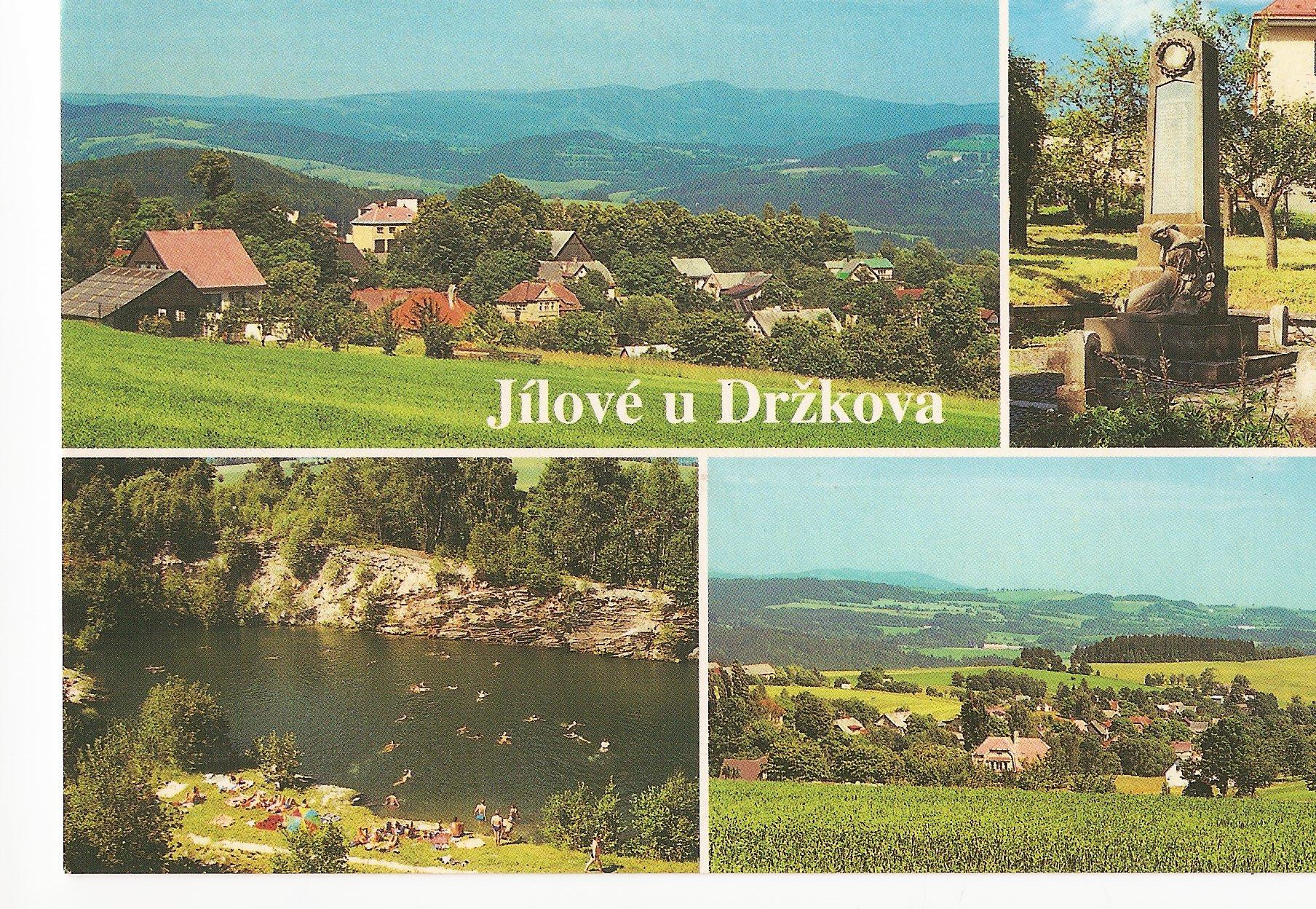 pohlednice Jílové u Držkova, zatopený lom je asi 3