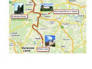 Apartmány V Centru U Zámečku - Mapa s ubytováním v Sokolově a Karlovarském kraji