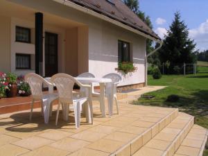 Ubytování Holcovi - Venkovní posezení na západní terase