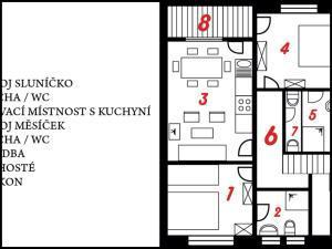 Apartment U Anděla - Plán Apartmentu