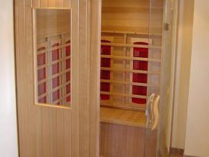 Wellness apartmán Na slunci - Sauna v apartmánu v Jizerkách
