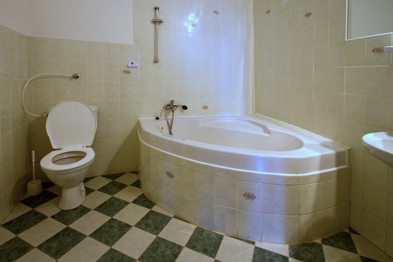 koupelna v hotelu Bílý koníček Jižní čechy