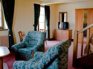 Žižkovy lázně - Čtyřlůžkový mezonetový apartmán - obývací pokoj