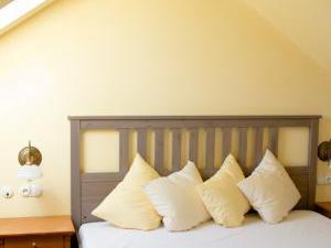 Žižkovy lázně - Ložnice v mezonetovém čtyřlůžkovém apartmá