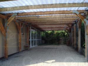 Ranch Veselíčko - Krytá terasa na Ranči Veselíčko ve Slavonicích