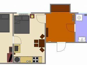 Apartmán Letná **** - plánek