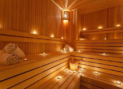 Sauna v penzionu ve  Valticích