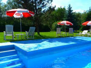 Penzion Wizard Lipno - zahrada s bazénem