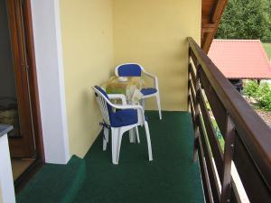 Apartmány  POD LESEM- podkrovní apartmán C - Apartmány POD LESEM- apart. C, balkon