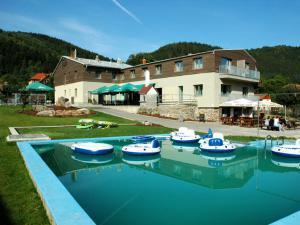 PENZION ZUBR - Penzion Zubr -venkovní bazén a posezení