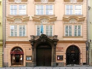 Pension Karlova - Budova ve které je  Pension Karlova