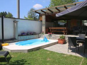 Penzion a restaurace U Čerta Čtyřkoly - zahrada s menším bazénem